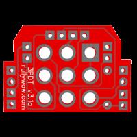 3PDT PCB rear